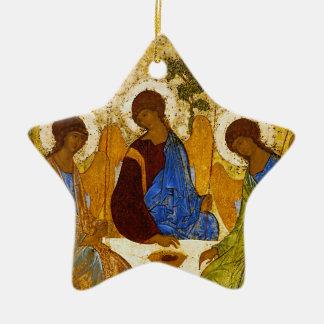 "Andrei Rublev, ""Holy Trinity"" Ceramic Star Ornament"