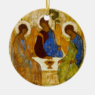 "Andrei Rublev, ""Holy Trinity"" Round Ceramic Ornament"