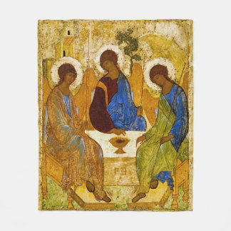 Andrei Rublev, icon of the Trinity Fleece Blanket