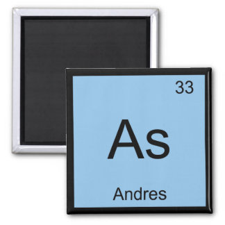 Andres Name Chemistry Element Periodic Table Refrigerator Magnets