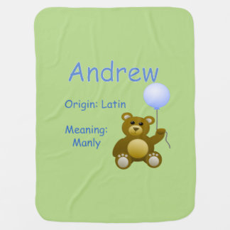 Andrew Baby Name Swaddle Blanket