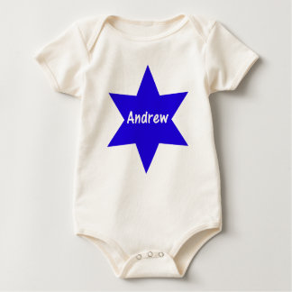 Andrew (blue star) baby bodysuit
