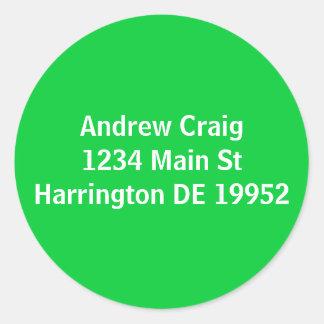 Andrew Craig1234 Main StHarrington DE 19952 Classic Round Sticker