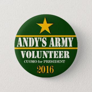 Andrew Cuomo President 2016 2 Inch Round Button