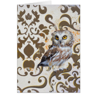 Andrew Denman Saw Whet Owl Blank Card
