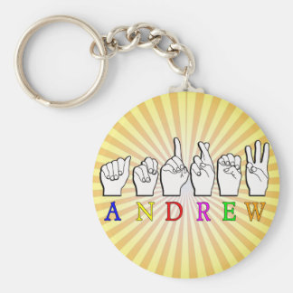 ANDREW  FINGERSPELLED ASL SIGN NAME FE MALE KEYCHAIN