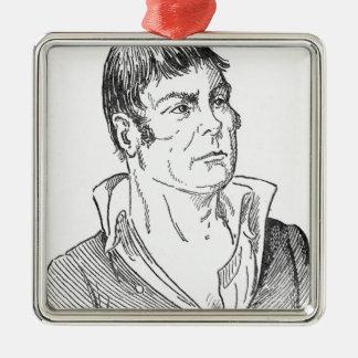 Andrew Gamble Silver-Colored Square Ornament