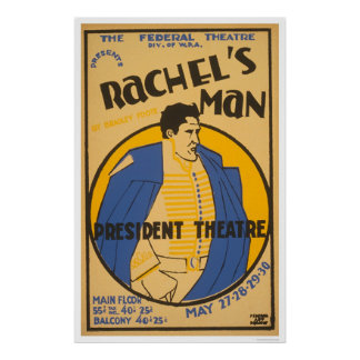 Andrew Jackson Drama 1937 WPA Poster