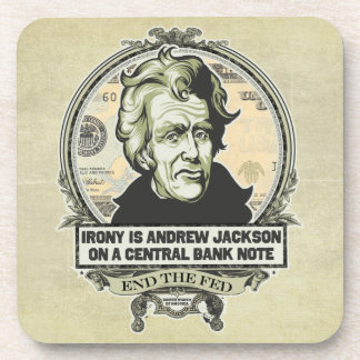Andrew Jackson On A Banknote Cork Coaster