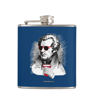 Andrew Jackson Party Animal Flasks