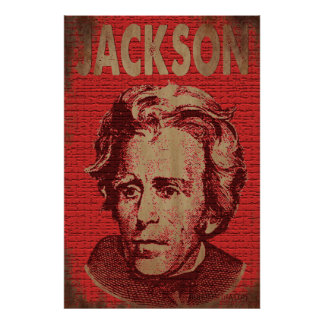 Andrew Jackson Poster (Red)
