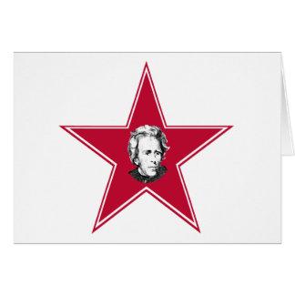 Andrew Jackson Star Greeting Card