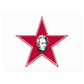 Andrew Jackson Star Postcard