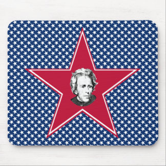 Andrew Jackson Star with Star Background Mouse Pad