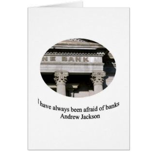 Andrew Jackson with quote Card