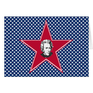 Andrew Jackson with Stars Background Greeting Card