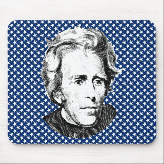 Andrew Jackson with Stars Background Mouse Pad