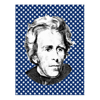 Andrew Jackson with Stars Background Postcard