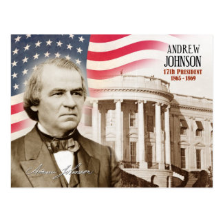 Andrew Johnson - 17th President of the U.S. Postcard