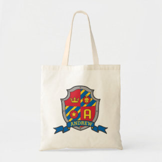 Andrew kids knight shield personalized library bag
