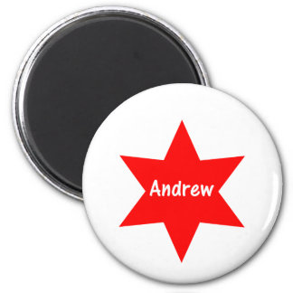 Andrew (red star) magnet