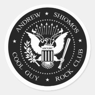 Andrew Shiomos Cool Guy Rock Club Sticker