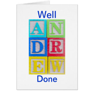 Andrew Well Done Card