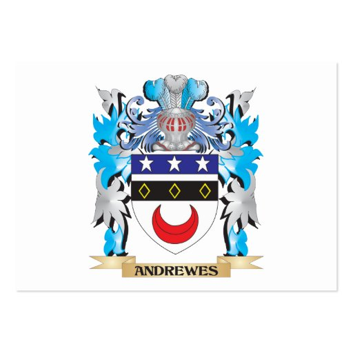 Andrewes Coat Of Arms Business Card Templates
