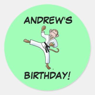 Andrew's Birthday Martial Arts Monkey Stickers