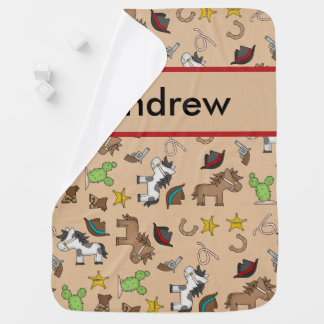 Andrew's Cowboy Blanket Swaddle Blankets