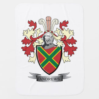 Andrews Family Crest Coat of Arms Receiving Blankets