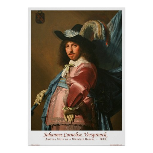 Andries Stilte as a Standard Bearer Poster