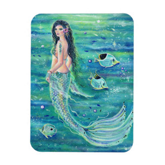 Andrina  mermaid with angelfish magnet by Renee