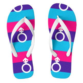 Androgyne Pride Flip Flops