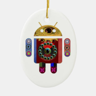 ANDROID by Navin Joshi Ceramic Oval Ornament