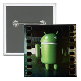 Android Distressed 2 Inch Square Button