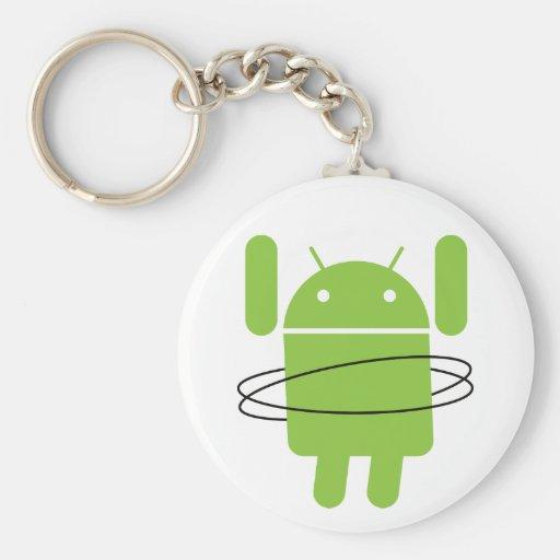 Android Hula Hoop Keychain