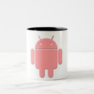Android Logo Print Two-Tone Coffee Mug