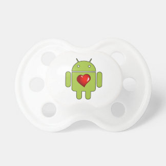 Android Love (Green) Pacifier