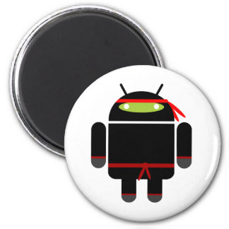 Android Ninja 2 Inch Round Magnet