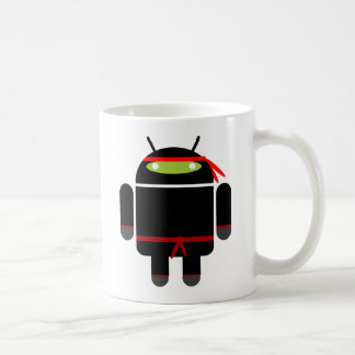 Android Ninja Basic White Mug