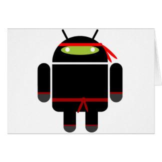 Android Ninja Greeting Card