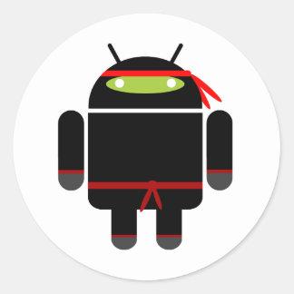 Android Ninja Round Sticker