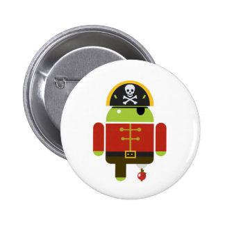 Android Pirate - Andy 2 Inch Round Button
