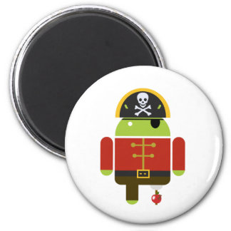 Android Pirate - Andy 2 Inch Round Magnet