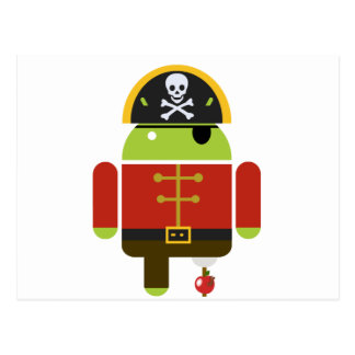 Android Pirate - Andy Post Card