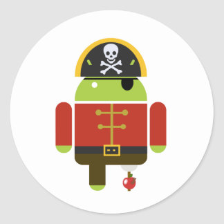 Android Pirate - Andy Round Sticker