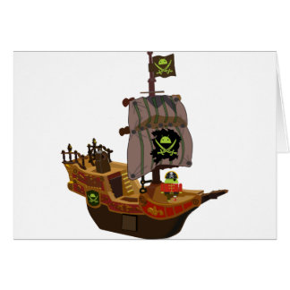 Android Pirate on a Ship Greeting Card