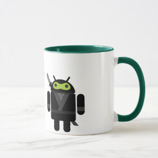 Android Pirate versus Ninja Mug