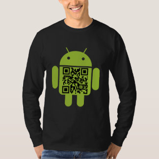 Android QR Code Men's Long Sleeve T-Shirt